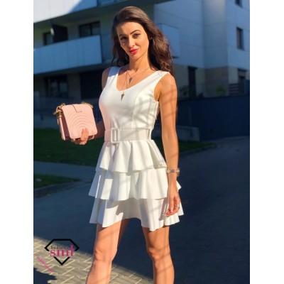 Elegancka Rozkloszowana sukienka z paskiem