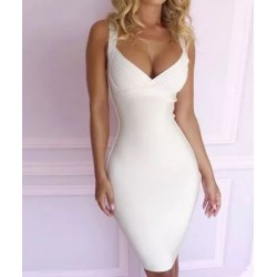 Biała Bandażowa sukienka HIT