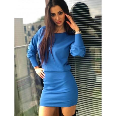 Niebieska bawełniana sukienka