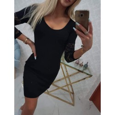 Sukienka dopasowana z koronką diva mini czarna
