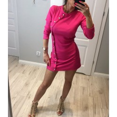 Różowa Sukienka ze zdobieniami