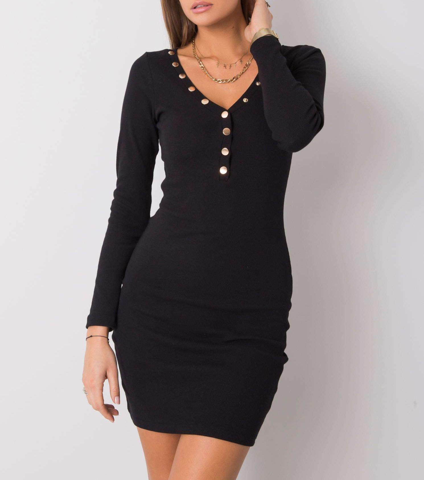 eleganckie czarne sukienki z długim rękawem