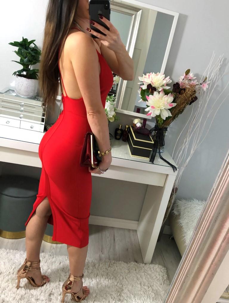 bandażowe sukienki czerwone