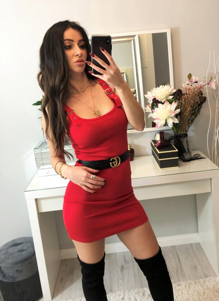 seksi czerwone sukienki