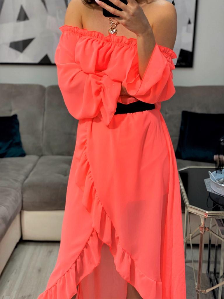 bluzka hiszpanka spódnica z falbankami