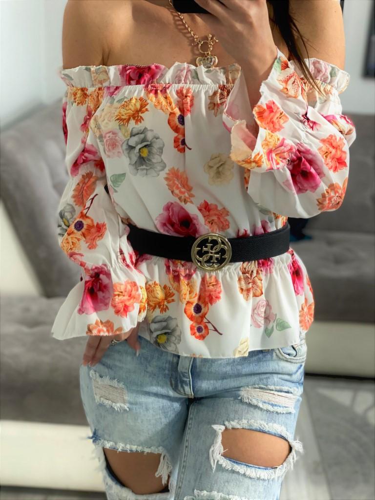 bluzka w kwiaty