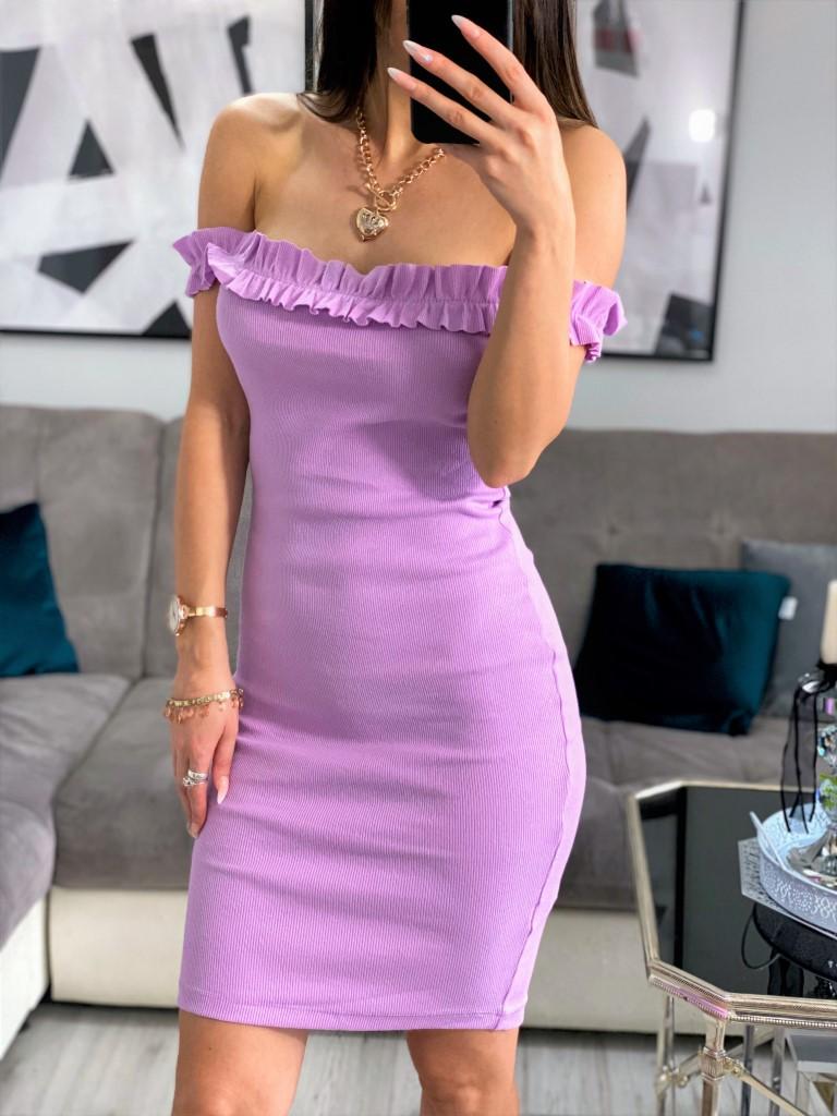 sukienka liliowa