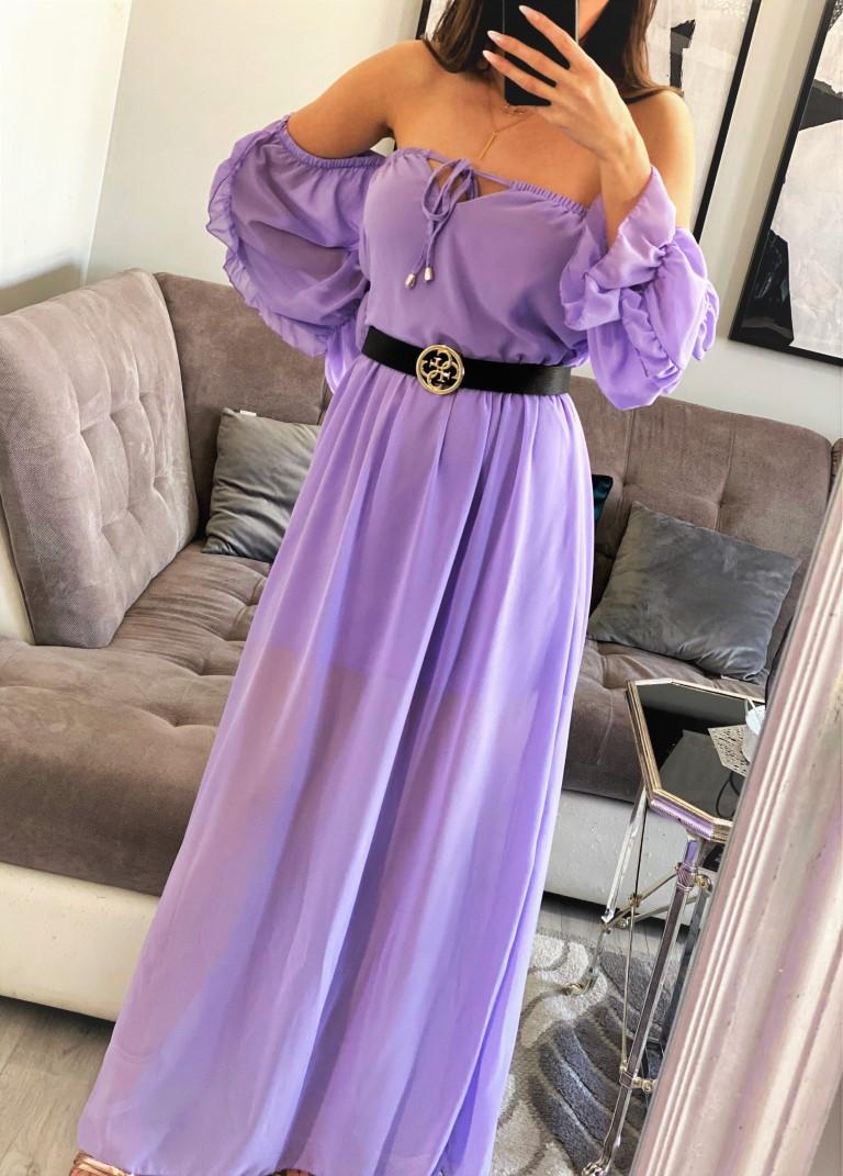 sukienki maxi liliowa