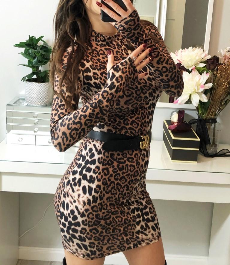 sukienki panterki