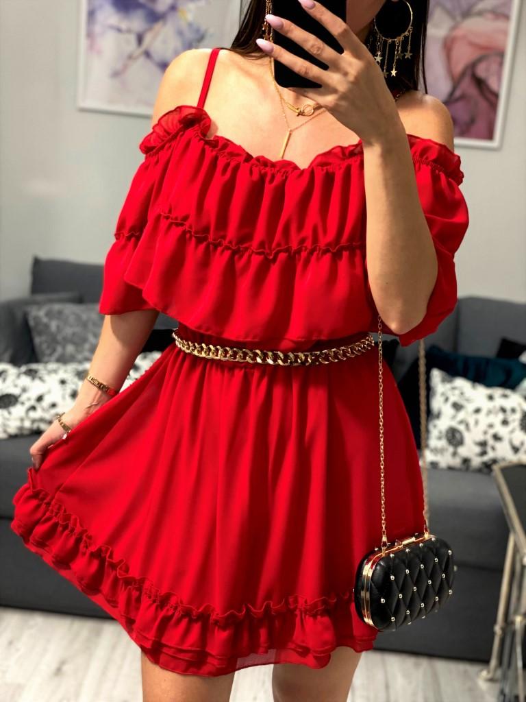 sukienki hiszpanki czerwone