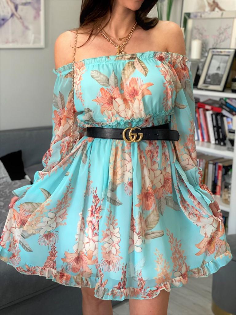 sukienka w kwiaty midi