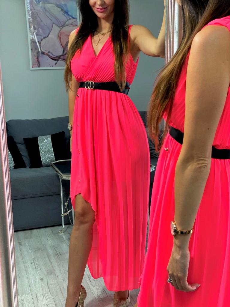sukienka maxi kopertowa