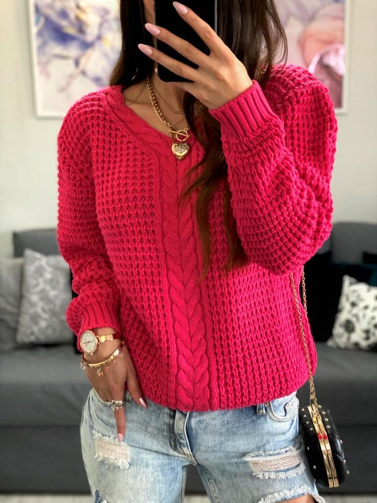 swetry damskie fuksja